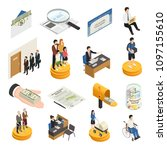 social security isometric icons ...   Shutterstock .eps vector #1097155610