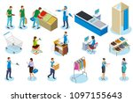 people during shopping... | Shutterstock .eps vector #1097155643