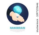 nano technology isometric round ... | Shutterstock .eps vector #1097155646