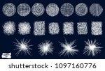 doodles set. scribble... | Shutterstock .eps vector #1097160776