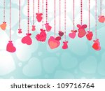 valentines day background. eps... | Shutterstock .eps vector #109716764