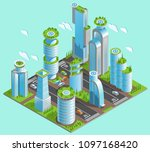 isolated and isometric... | Shutterstock .eps vector #1097168420