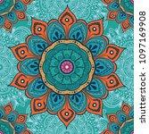 flower mandala colorful... | Shutterstock .eps vector #1097169908