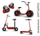 realistic self balancing gyro... | Shutterstock .eps vector #1097169923