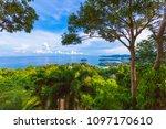 3 beaches viewpoint landmark to ... | Shutterstock . vector #1097170610