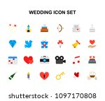 color icons set. wedding pack.... | Shutterstock .eps vector #1097170808