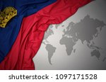 waving colorful national flag... | Shutterstock . vector #1097171528