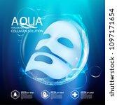 facial mask aqua skin collagen... | Shutterstock .eps vector #1097171654