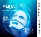 facial mask aqua skin collagen... | Shutterstock .eps vector #1097171663