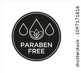 paraben free icon. isolated... | Shutterstock .eps vector #1097171816