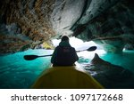 woman with kayak explores the...   Shutterstock . vector #1097172668