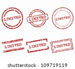 limited stamps | Shutterstock .eps vector #109719119