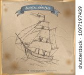 tall ship sketch. maritime...   Shutterstock .eps vector #1097197439