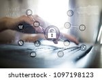cyber security  data protection ... | Shutterstock . vector #1097198123