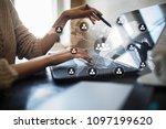 people organisation structure.... | Shutterstock . vector #1097199620