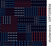 modern polka dots mix pattern...   Shutterstock .eps vector #1097205836