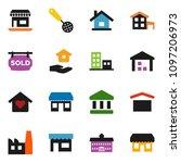 solid vector ixon set   house... | Shutterstock .eps vector #1097206973