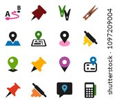 solid vector icon set  ... | Shutterstock .eps vector #1097209004