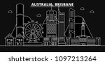 brisbane silhouette skyline.... | Shutterstock .eps vector #1097213264