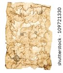 worn treasure map on white... | Shutterstock . vector #109721330