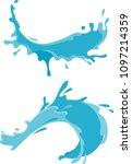 splash arc set solid colors | Shutterstock .eps vector #1097214359