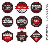 black friday sales badges... | Shutterstock .eps vector #1097215709