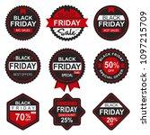 set black friday sale badges... | Shutterstock .eps vector #1097215709