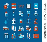 set of medicine icons and... | Shutterstock .eps vector #1097216066