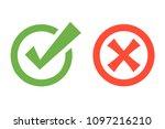 green checkmark  red x mark... | Shutterstock .eps vector #1097216210
