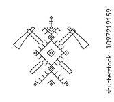 tomahawks. design element based ...   Shutterstock .eps vector #1097219159