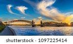 panorama of petersburg. russia. ... | Shutterstock . vector #1097225414