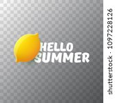 vector hello summer beach party ... | Shutterstock .eps vector #1097228126
