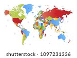 color world map vector | Shutterstock .eps vector #1097231336