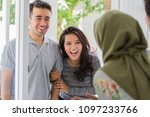 portrait of asian people with...   Shutterstock . vector #1097233766