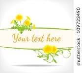 herbal background   banner with ... | Shutterstock .eps vector #109723490
