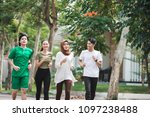 happy young asian people...   Shutterstock . vector #1097238488