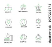 modern flat thin line icon set... | Shutterstock .eps vector #1097239373