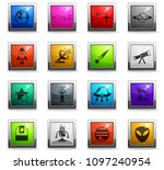 space web icons in square... | Shutterstock .eps vector #1097240954