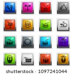 rhythm instruments web icons in ...   Shutterstock .eps vector #1097241044