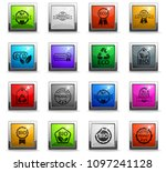 eco label web icons in square... | Shutterstock .eps vector #1097241128