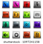 musical equipment web icons in... | Shutterstock .eps vector #1097241158