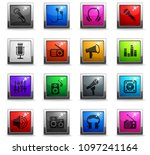 musical equipment web icons in... | Shutterstock .eps vector #1097241164