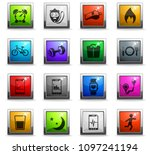 monitoring apps vector icons in ... | Shutterstock .eps vector #1097241194