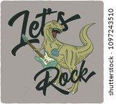 surfing theme t shirt or poster ... | Shutterstock .eps vector #1097243510