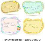 cute speech bubbles templates... | Shutterstock .eps vector #109724570