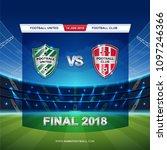 scoreboard broadcast template... | Shutterstock .eps vector #1097246366