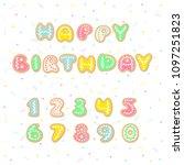 happy birthday greeting card... | Shutterstock .eps vector #1097251823