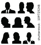set of detailed silhouettes of... | Shutterstock .eps vector #109725248