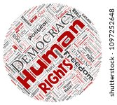 conceptual human rights... | Shutterstock . vector #1097252648