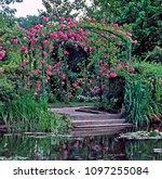 rose arch at claude monet's... | Shutterstock . vector #1097255084